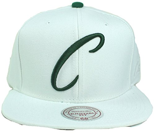 Mitchell & Ness NBA Hardwood Classics First Letter Flat Brim Snapback Cap (Boston Celtics) (Boston Celtics Classics Flat)
