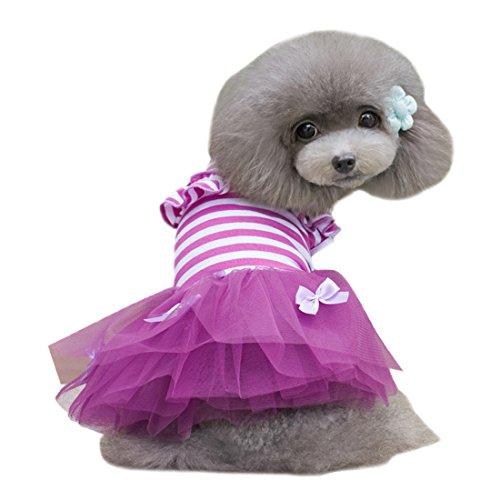 27 Pug Costumes (Alroman Dog Dresses Pets Clothes Purple Pet Dresses Doggie Skirt Puppy Clothes Dog Clothes Puppy Apparel Cat Dresses Dog Outfits(XS))