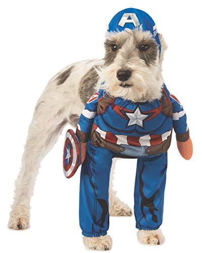 Captain America Pet Costume (Rubie's Marvel Walking Captain America Pet Costume,)