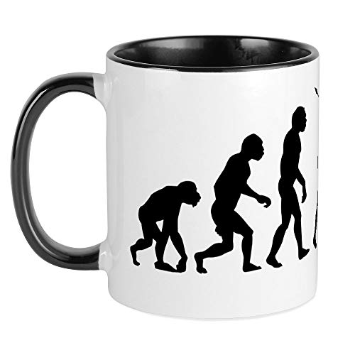 CafePress Evolution K14x6 Mug Unique Coffee Mug, Coffee Cup