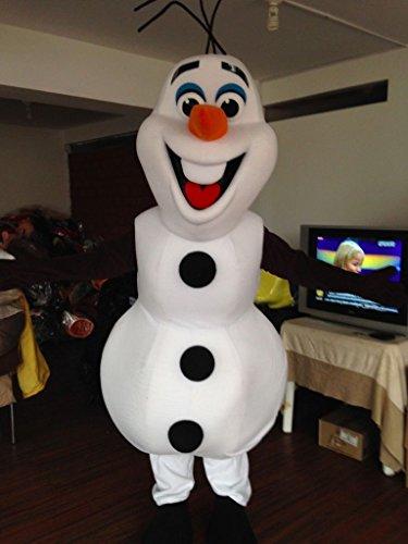 Smiling Olaf Mascot Costume