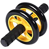 Ab Abdominal Exercise Roller With Extra Thick Knee Pad Mat - Body Fitness Strength Training Machine AB Wheel Gym Tool-JSYP16
