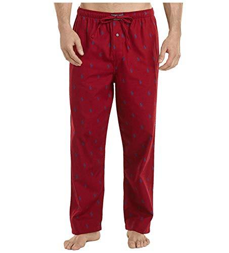 Polo Ralph Lauren Men's Flannel PJ Pants Avenue Red/Royal Large ()