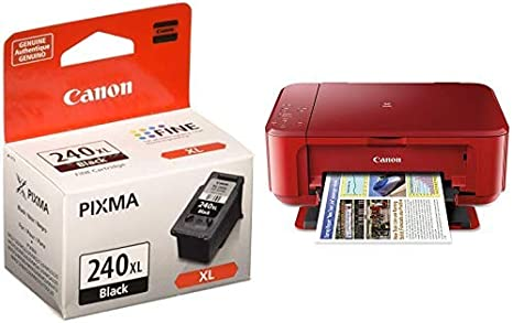 INK INCLUDED Canon PIXMA MG3620 Black Red Wireless All-In-One Inkjet Printer