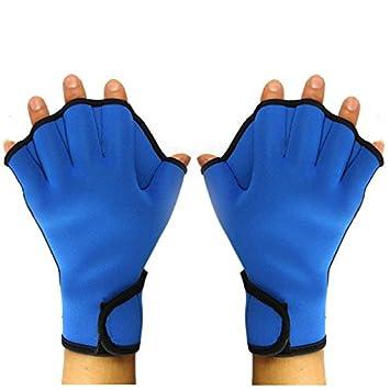 Vococal - Natación Surf Deportes Paddle Pádel/Guantes Fingerless Neopreno Palmeados Aletas de Formación para Hombr Adultos (Azul,L): Amazon.es: Deportes y ...