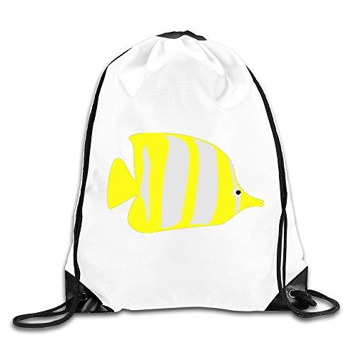 Bekey Butterfly Fish Gym Drawstring Backpack Bags For Men & Women For Home Travel Storage Use Gym Traveling Shopping Sport Yoga - Santana San Jose Rose