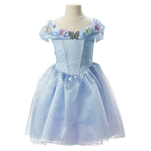 [CINDERELLA LIVE ACTION 82058 Ella's Blue Dress Costume] (Cinderella Dress Up)