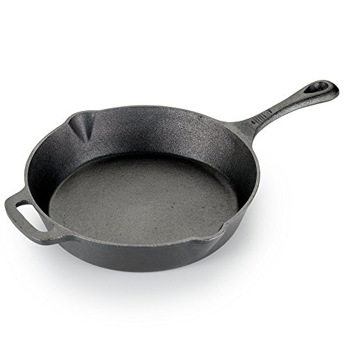 T-fal E83405 Pre-Seasoned Nonstick Durable Cast Iron Skillet / Fry pan Cookware, 10.25-Inch, Black