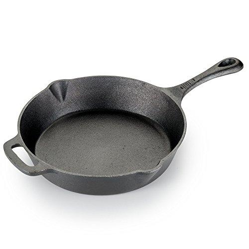 T-fal E83405 Pre-Seasoned Nonstick Durable Cast Iron Skillet/Fry pan Cookware, 10.25-Inch, Black