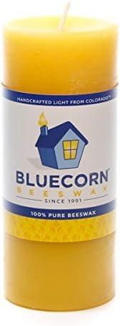 Bluecorn Beeswax 100/% Pure Raw Beeswax Pillar 2x 4.5