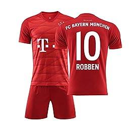 BDHL Maillot de Football Garçon # 10 Robben Courte Suit de Football pour Les Fans de Football Maillot Adultes et Enfants 2019 Ensembles de Sport T-Shirt et Un Shorts