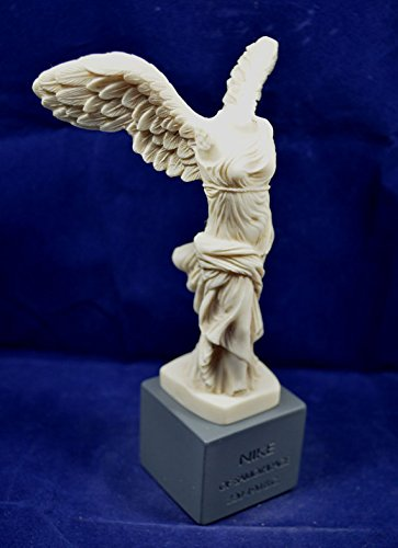 Nike sculpture of Samothrace Victory ancient Greek aged statue on base (Samothrace Statue)