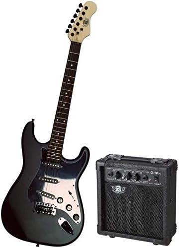 Legend pacs1 00bkm Juego de guitarra eléctrica, tipo Stratocaster ...