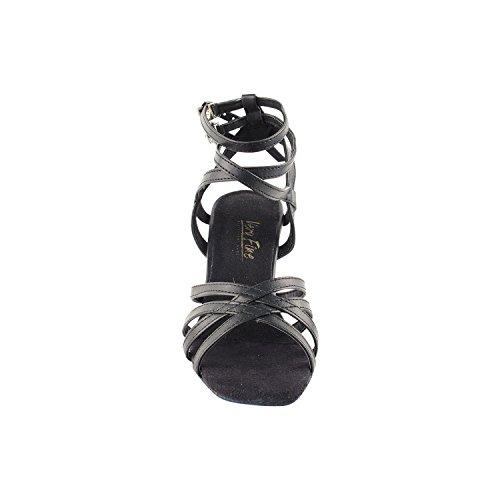 50 Nuances De Chaussures De Danse Noir Collection Iii, Robe De Soirée De Confort Pompes De Mariage, Chaussures De Bal Pour Latin, Tango, Salsa, Swing, Thêatre Art De 50 Nuances (2,5, 3 Et 3,5 Talons) 5009- Cuir Noir