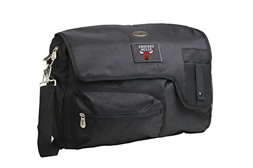 Denco NBA Chicago Bulls Travel Messenger Bag, 15-Inch, Black by Denco