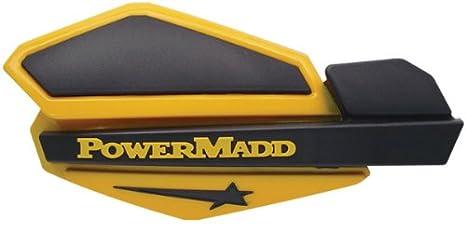 PowerMadd 34208 Star Series Handguard - White/Black