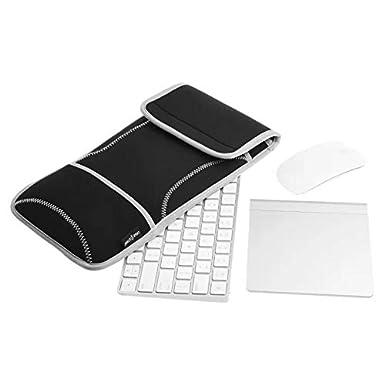 Funda protectora blanda de transporte para teclado inalámbrico y Magic Mouse de Apple, neopreno (no apta para teclado con tecla Enter en forma de 7)