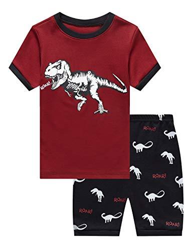 Family Feeling Little Boys Dinosaur Pajamas Short Sets Pants 100% Cotton Toddler Kid 4T