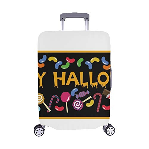 Banner Sweets Material Collection Halloween Autumn Material Collection Halloween Spandex Trolley Case Travel Luggage Protector Suitcase Cover 28.5 X 20.5 Inch -