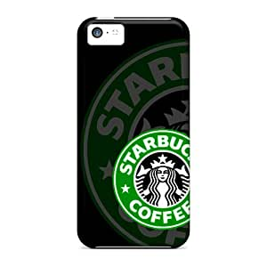 Scratch Protection Cell-phone Hard Cover For Iphone 5c (oNN6720RyBw) Support Personal Customs Lifelike Starbucks Logo Series