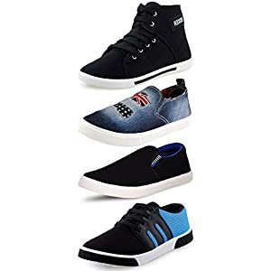 Ethics Perfect Combo Pack of 4 Loafer Shoes for Men