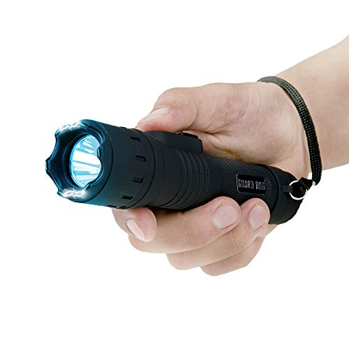Guard Dog Security Stealth Compact Stun Gun Flashlight, Maximum Voltage, Holster Included, Rechargeable