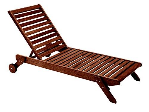 - Butzke Mestra Eucalyptus Wood Chaise, Brown