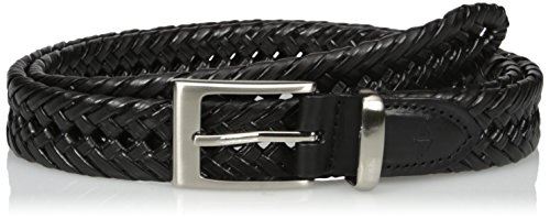 Dockers Men's 1 1/4 in. Laced Braid Metal Logo Belt, black, 40 - Size 40 Belt For Men