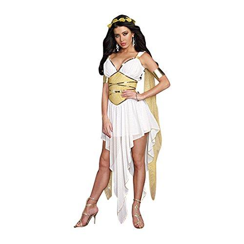 [Dreamgirl Women's Goddess of Delight Greek Roman Costume, White, Small] (Greek Roman Costumes Halloween)