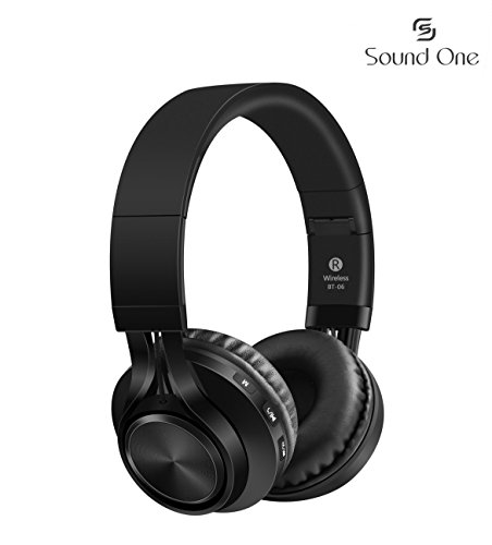 Sound One BT-06 Bluetooth Headphones Build in Microphone Wireless Headphones with TF Card (Black)