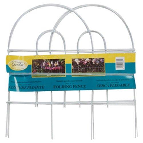 Panacea 89317 Arch Folding Fence, White
