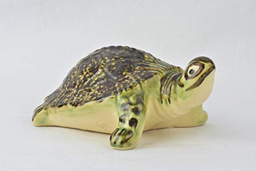 Brush McCoy Pottery 1950s Outdoor Pottery Turtle #487D