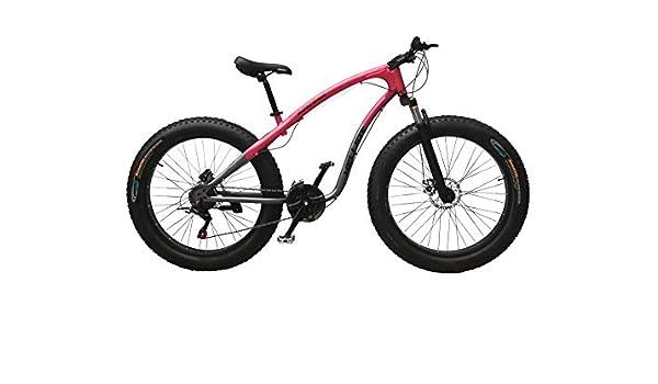 Helliot Bikes Arizona Fat Bike Bicicleta de Montaña, Adultos Unisex, Rojo/Blanco, M-L: Amazon.es: Deportes y aire libre