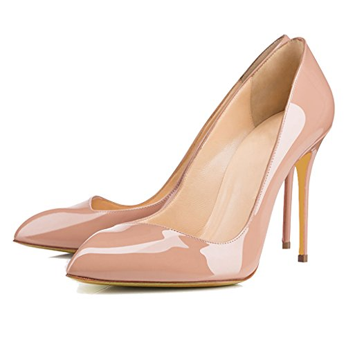 Jahreszeiten Einem Lackleder 11 13Cm Pendeln Schwarzem Spitze Schuhe Schuhen Stiletto High YY Einzelnen Fuß 5 Vier OL Pumps aus mit LYY mit Schuhe Heels Absatzhöhe XqR64n