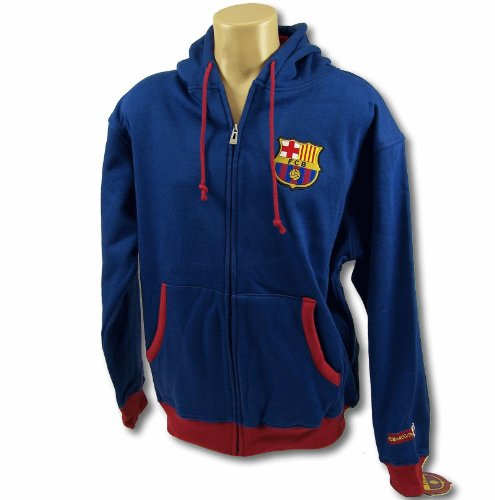 FC BARCELONA SOCCER ZIP FRONT FLEECE HOODIE SWEATSHIRT JACKET SZ XL by Rhinox