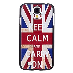 ZCL Keep Calm and Carry ON Design Hard Case for Samsung Galaxy S4 I9500