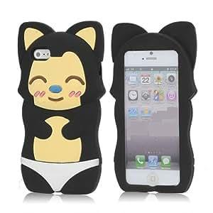Apple iPhone 4/4s Black Cat Silocone Animal Case