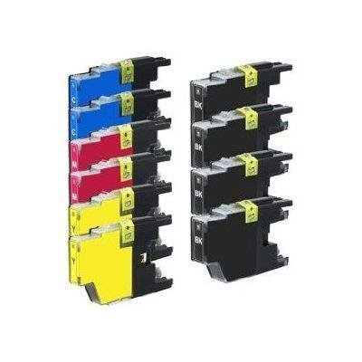 10 High Yield Compatible Ink Cartridge Combo, LC75 (4xBk, 2xC, 2xM&2xY)