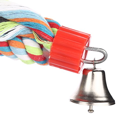 Jusney The Large Parrot Cage Toys 63 Inch Rope Bungee Climbing Ropes,Swing Toys,Spiral Standing Toys About 160 Centimeter Long (63 Inch)