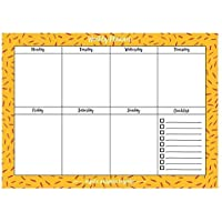 Instanote Weekly Planner Pad 8 Alternating Patterns 80 Pages A4 Size