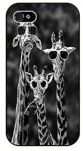 Hipster Giraffes, glasses - iPhone 4 / 4S black plastic case / Animals and Nature, giraffe