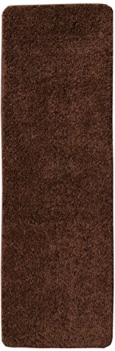 Luxury Carpet (Ottomanson Luxury Collection Solid Runner Rug with Non-Slip/Rubber-Backing Bath Rug, 2'2