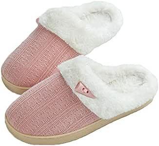 NSBM Zapatillas de algodón Zapatillas Mujer Botones Nuevos Parejas Zapatillas De Tela De Algodón En Invierno Zapatillas Japonesas Antideslizantes De Algodón En Casa, Marrón, 35: Amazon.es: Deportes y aire libre