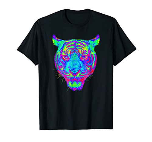 Neon Tiger - EDM Electronic Dance Techno Neon Tiger Rave T-Shirt