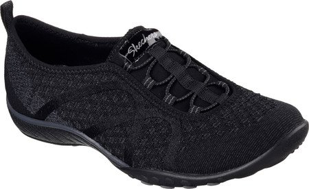Skechers Women's Relaxed Fit Breathe Easy Fortune-Knit Slip-On,Black,US 5 W by Skechers (Image #1)