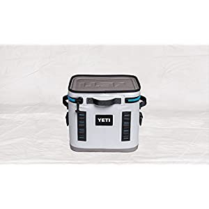 YETI Hopper Flip 12 Portable Cooler, Fog Grey/Tahoe Blue