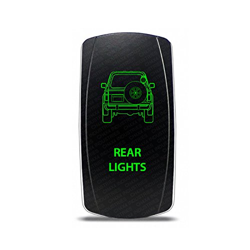 CH4x4 Rocker Switch Toyota Land Cruiser 80 series Rear Lights Symbol - Green LED