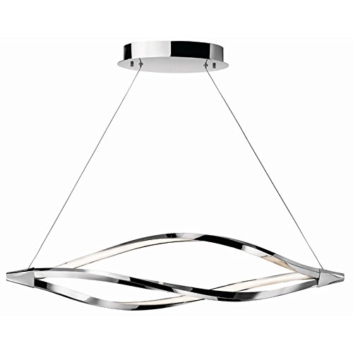 Meridian Pendant Lamp (Elan 83386 Meridian Pendant Lighting, Chrome)