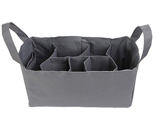Ecokaki(TM) Newborn Toddler Baby Travel Portable Diaper Bags Nappy Bags Insert Organizer with 7 Pockets for Mom, Grey by Ecokaki