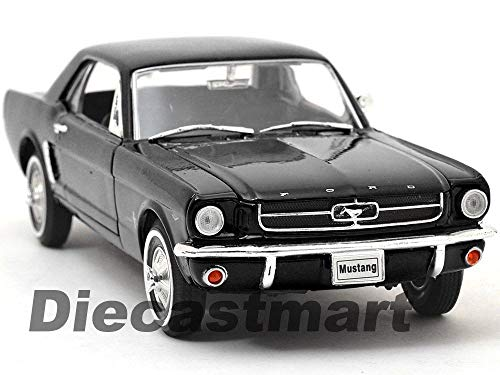 1:24 1964 1/2 Ford Mustang Hard TOP DIECAST Model CAR Black 22451 New